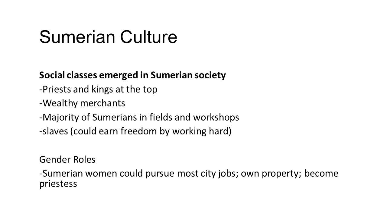 Sumerian Culture
