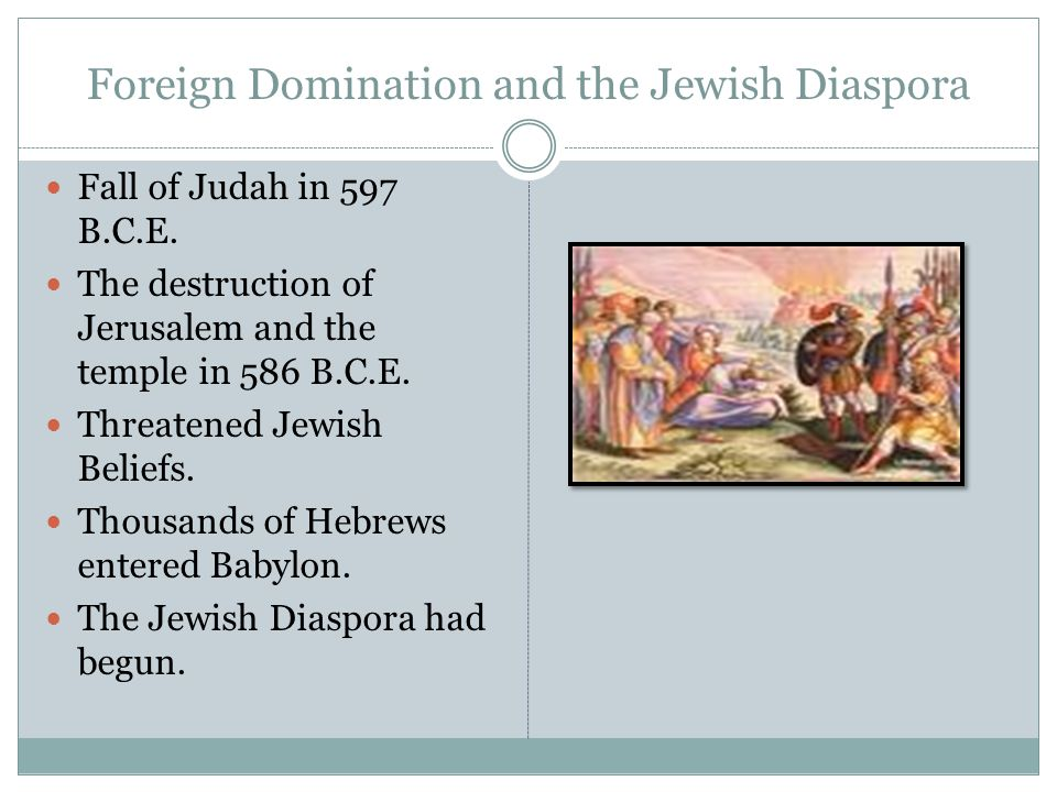 Foreign Domination and the Jewish Diaspora
