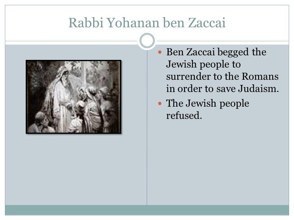Rabbi Yohanan ben Zaccai