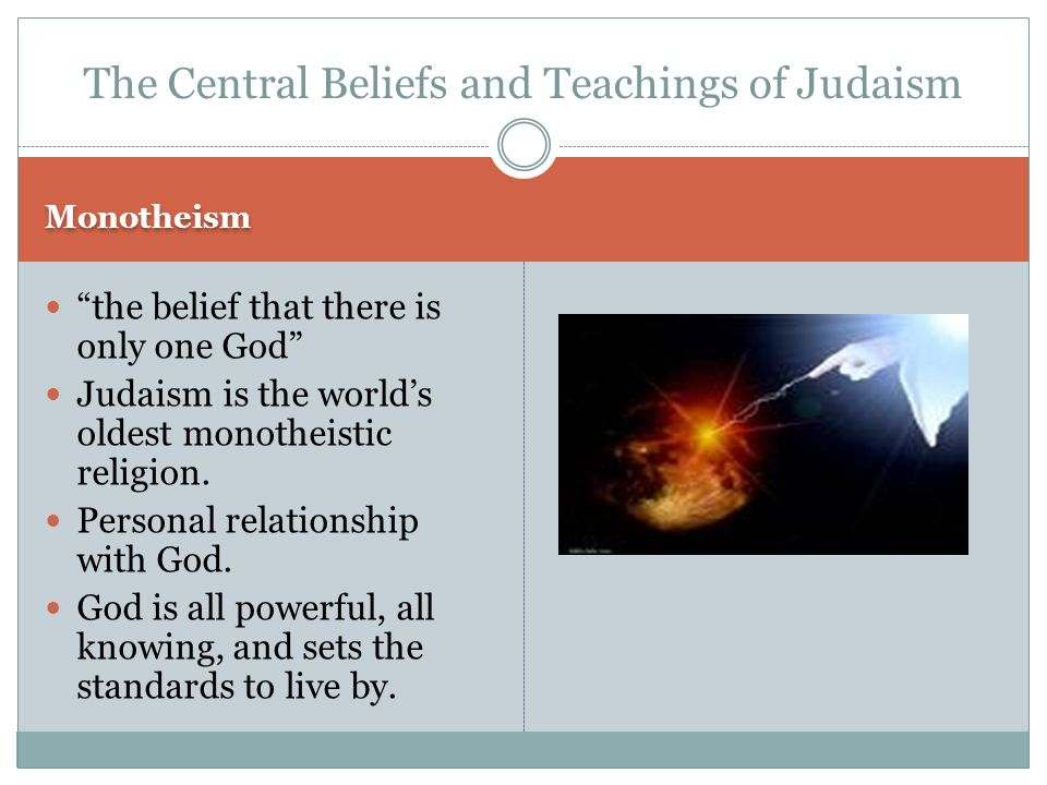 The Central Beliefs and Teachings of Judaism
