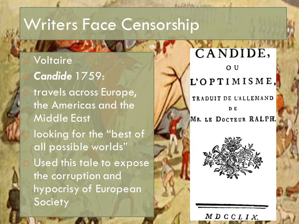 Writers Face Censorship