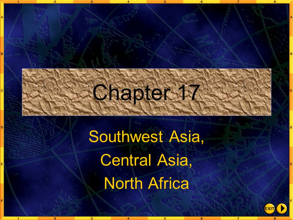 Southwest Asia, Central Asia, North Africa