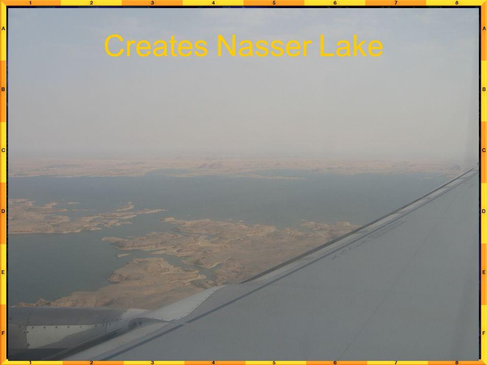 Creates Nasser Lake
