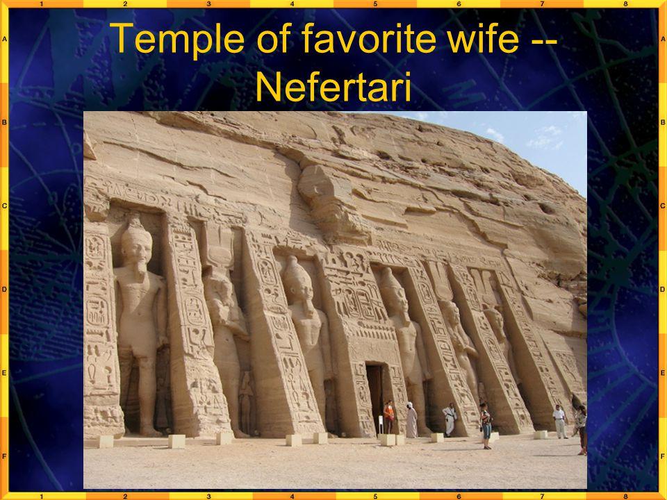 Temple of favorite wife -- Nefertari