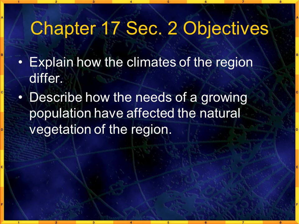 Chapter 17 Sec. 2 Objectives