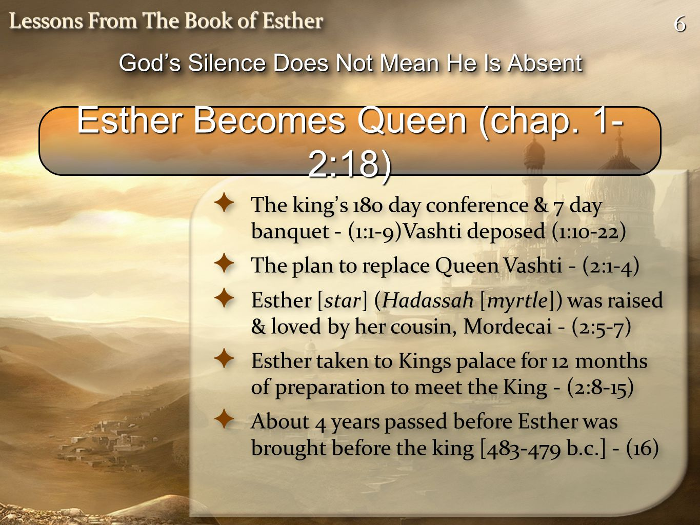 Esther Becomes Queen (chap. 1-2:18)
