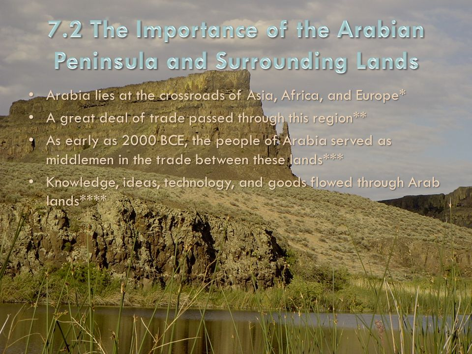 7.2 The Importance of the Arabian Peninsula and Surrounding Lands