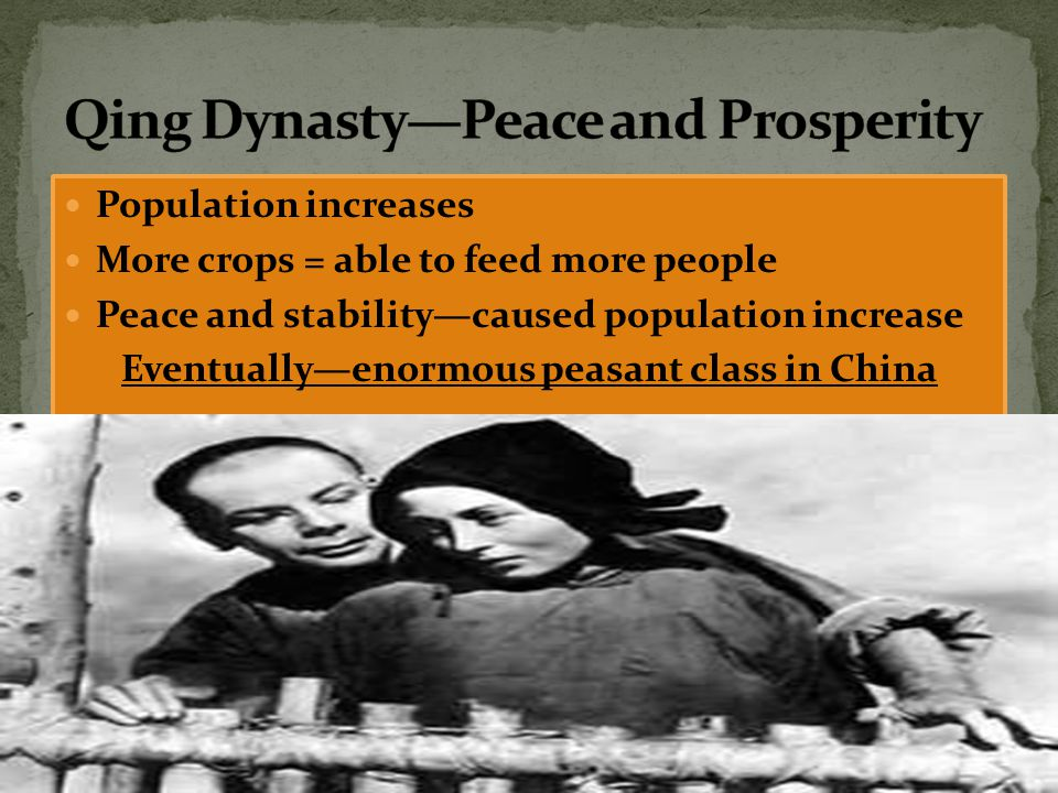 Qing Dynasty—Peace and Prosperity