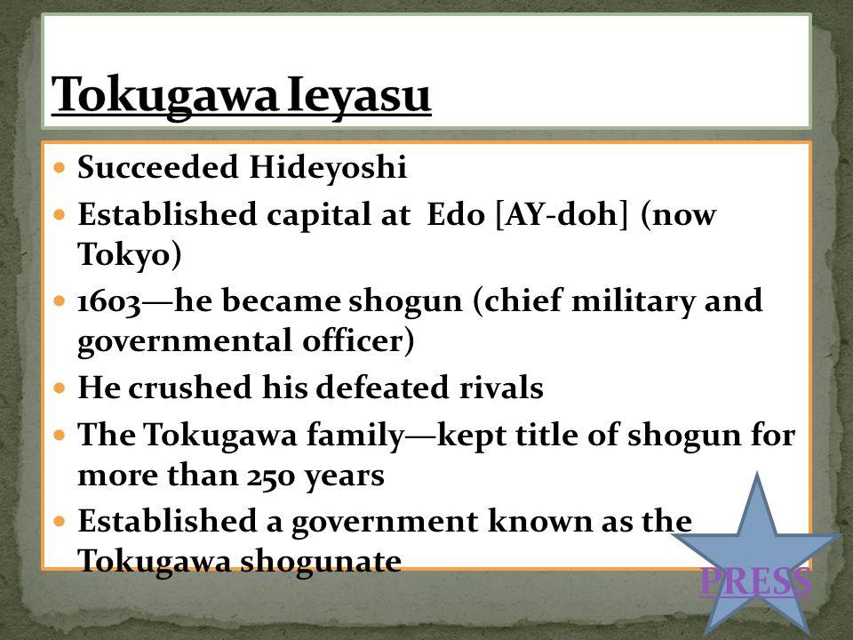Tokugawa Ieyasu PRESS Succeeded Hideyoshi