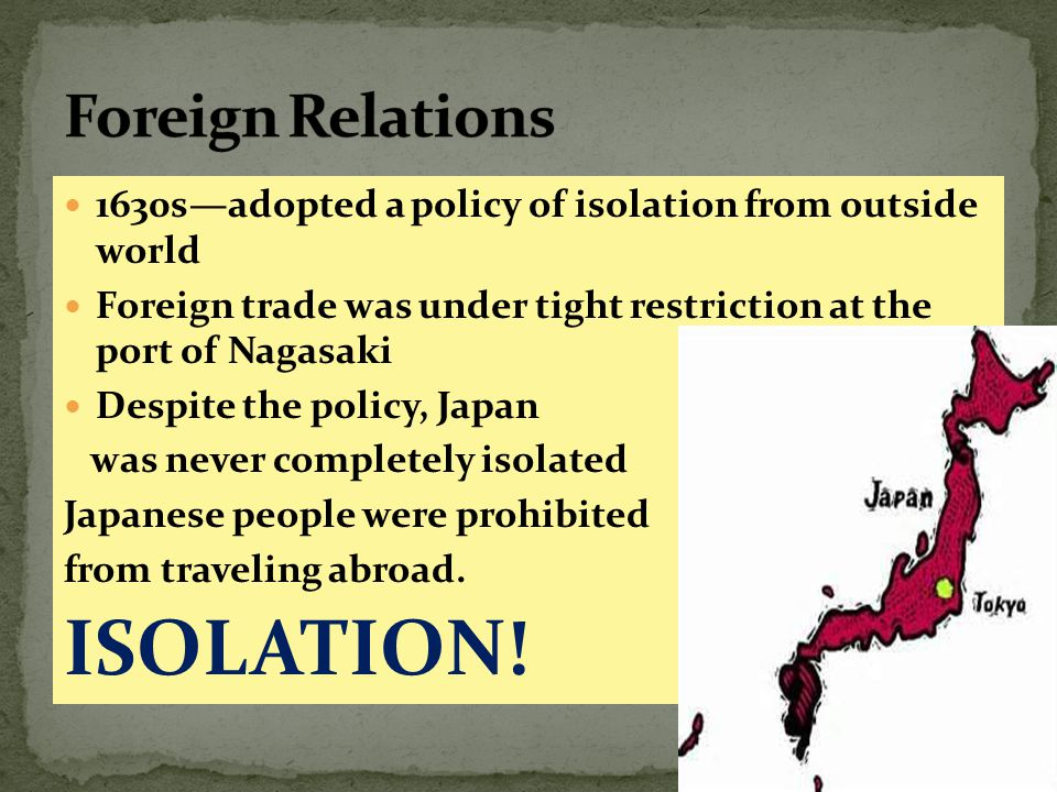 ISOLATION! Foreign Relations