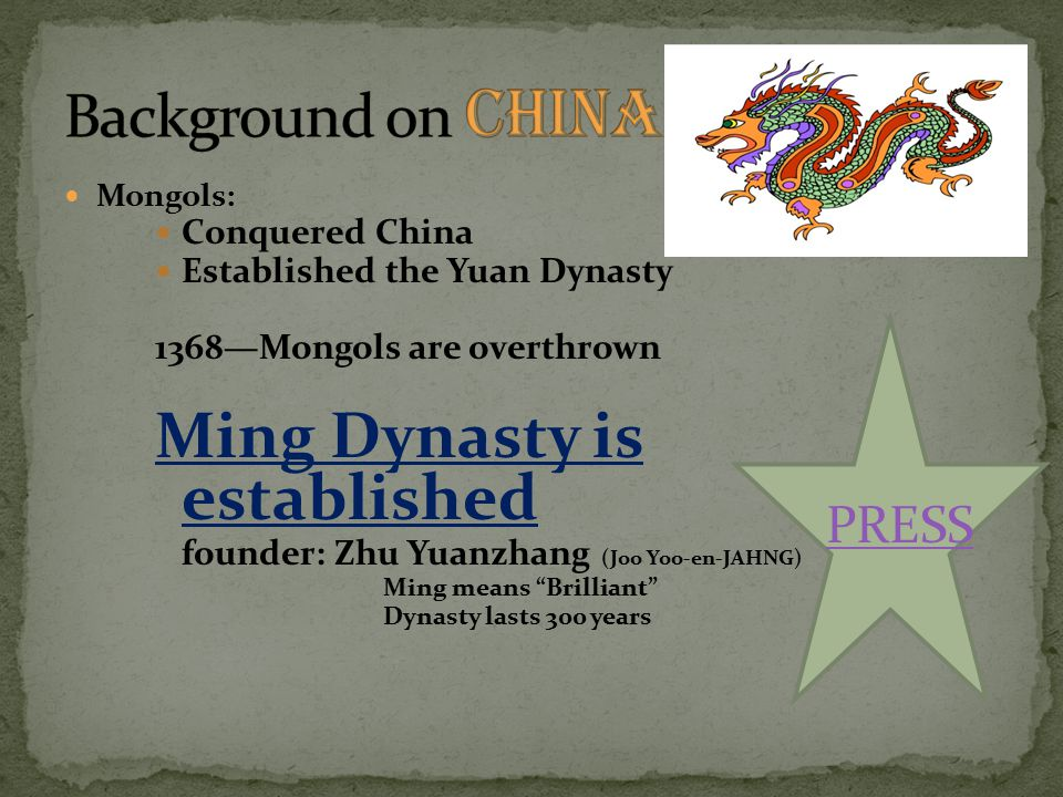 Ming Dynasty is established