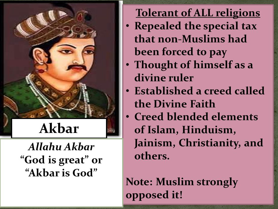 Tolerant of ALL religions