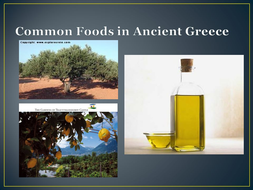 Common Foods in Ancient Greece