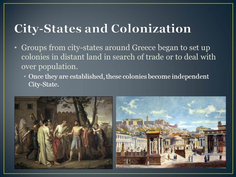 City-States and Colonization
