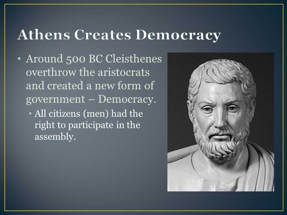 Athens Creates Democracy