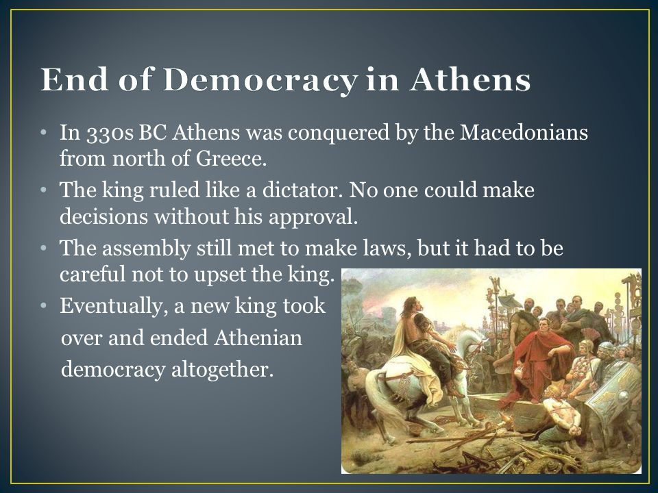 End of Democracy in Athens