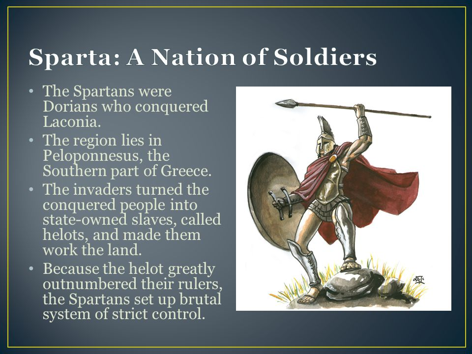 Sparta: A Nation of Soldiers
