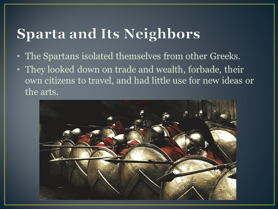 Sparta and Its Neighbors