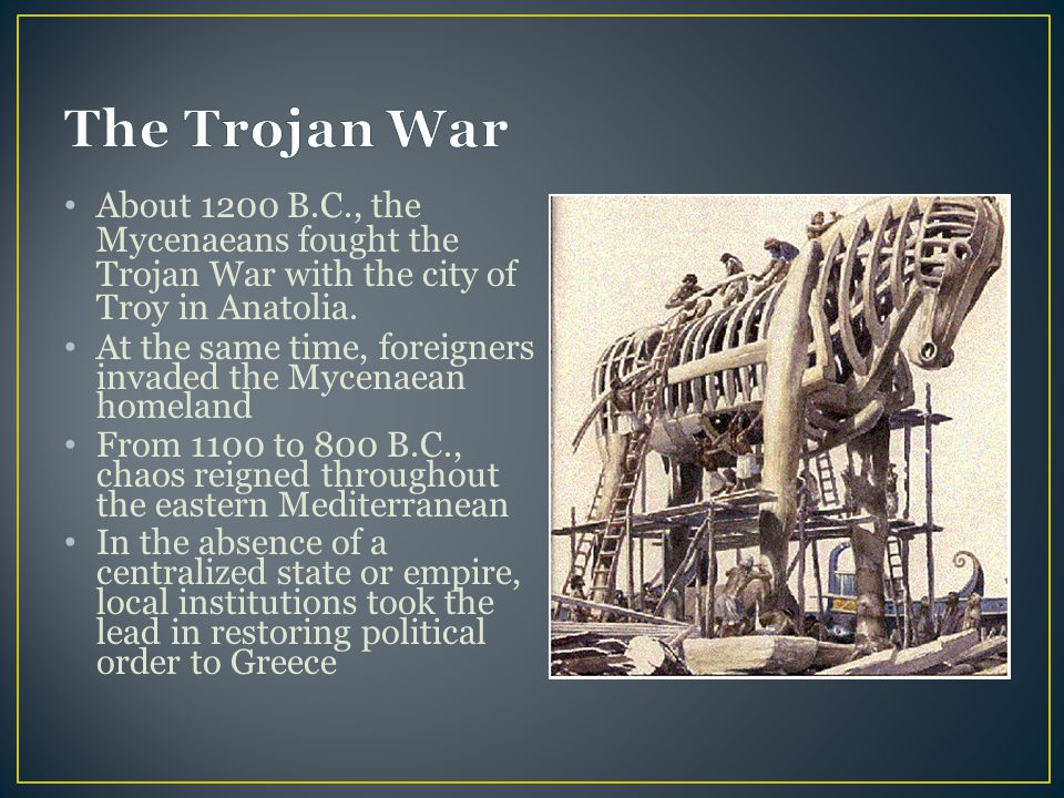 What is the traditional date for the trojan war in Perth