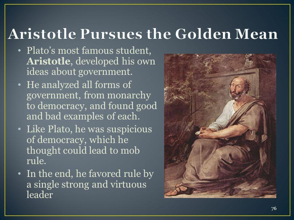 Aristotle Pursues the Golden Mean