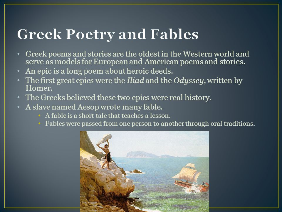 Greek Poetry and Fables