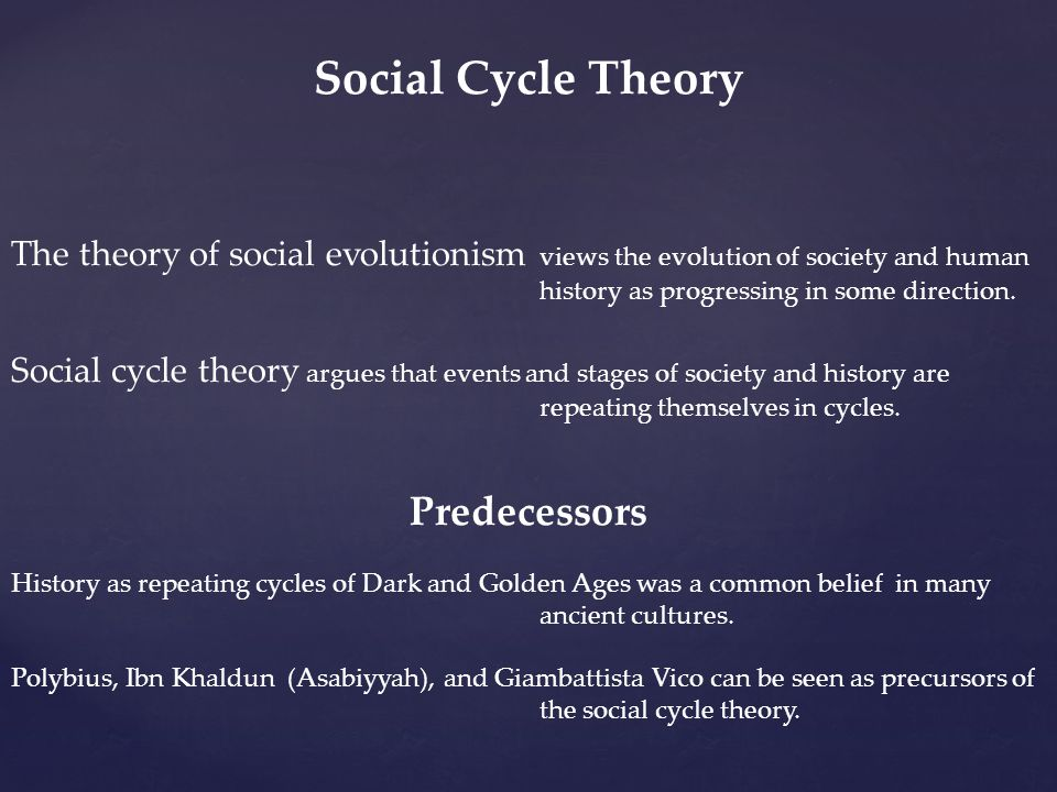Social Cycle Theory Predecessors