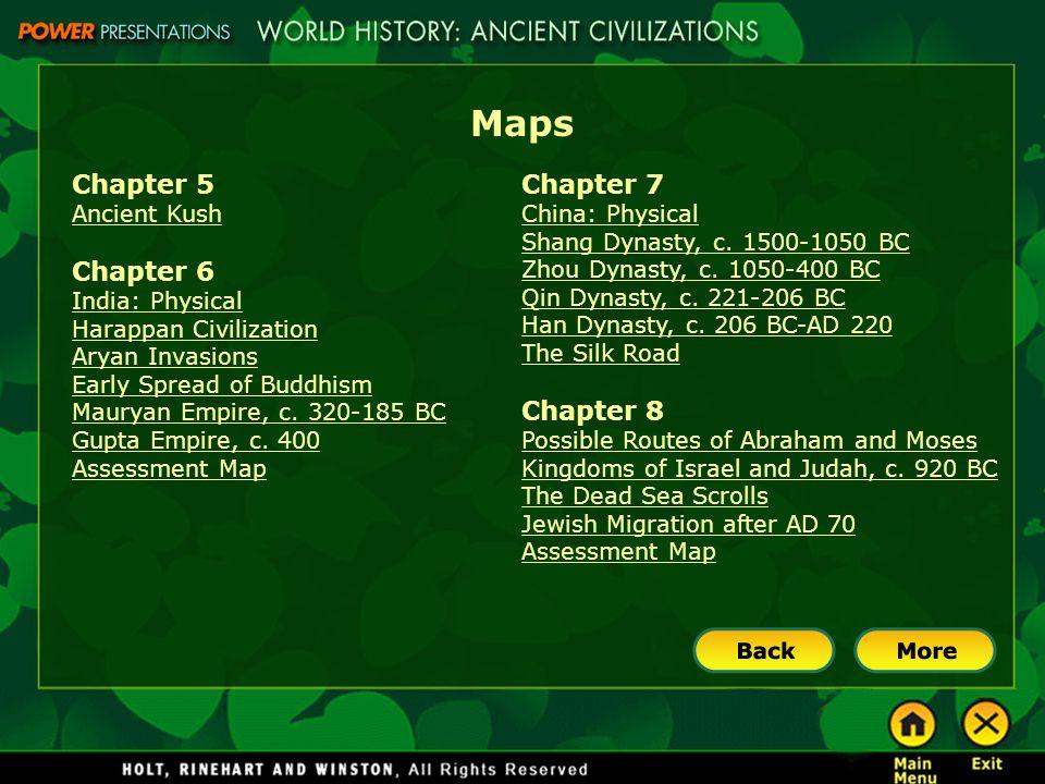 Maps Chapter 5 Chapter 6 Chapter 7 Chapter 8 Ancient Kush