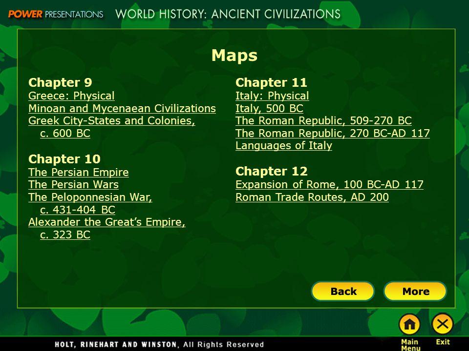 Maps Chapter 9 Chapter 10 Chapter 11 Chapter 12 Greece: Physical