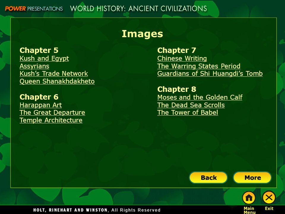 Images Chapter 5 Chapter 6 Chapter 7 Chapter 8 Kush and Egypt