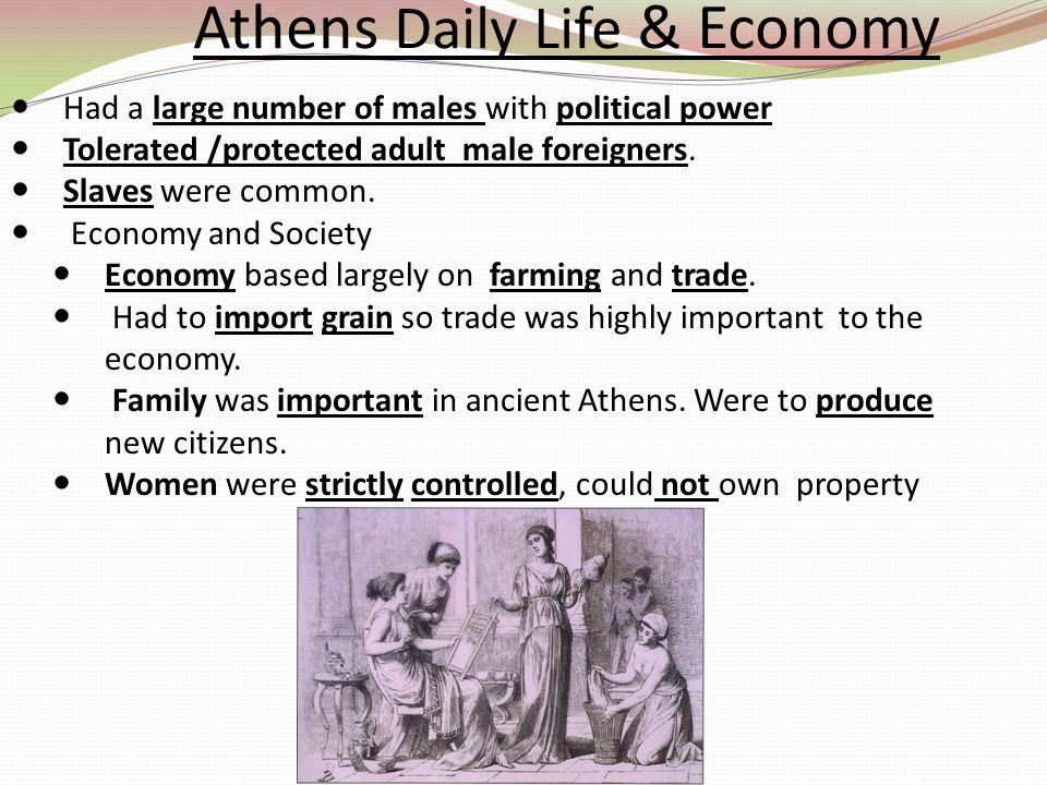 Athens Daily Life & Economy