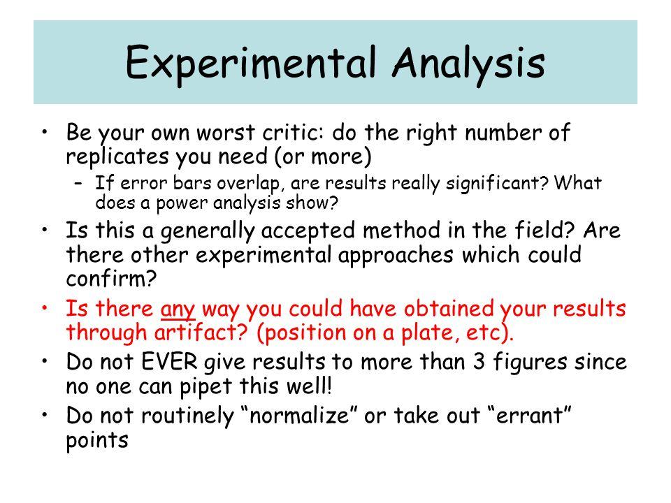 Experimental Analysis