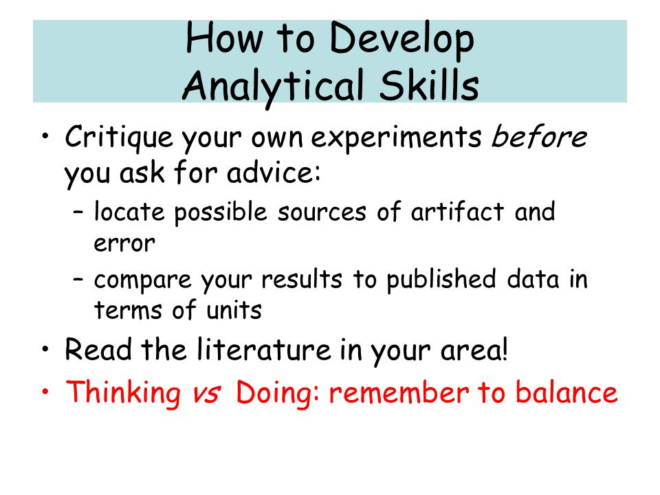 How to Develop Analytical Skills
