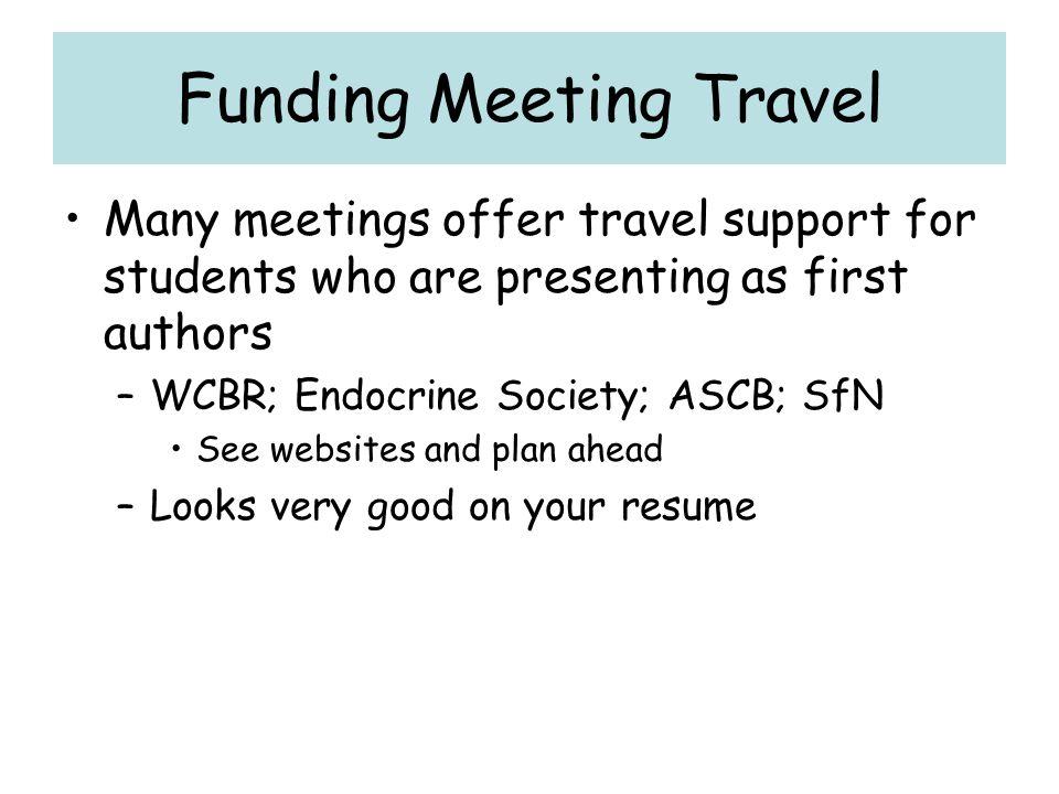 Funding Meeting Travel