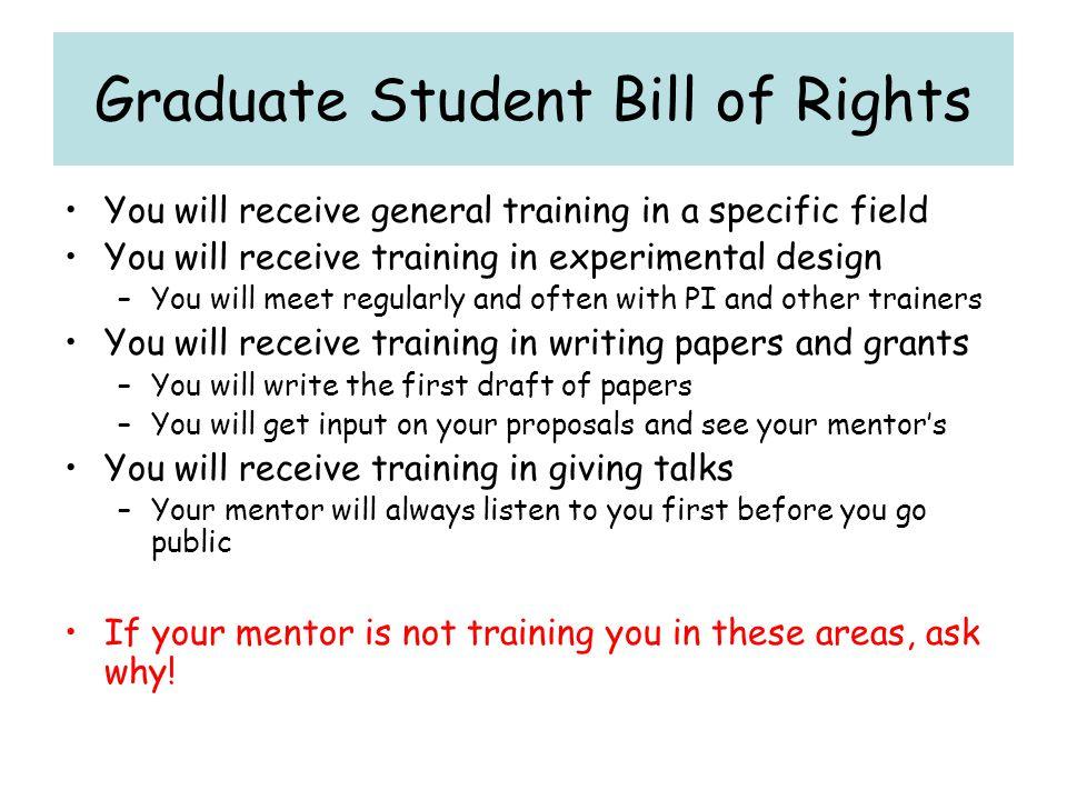 Graduate Student Bill of Rights