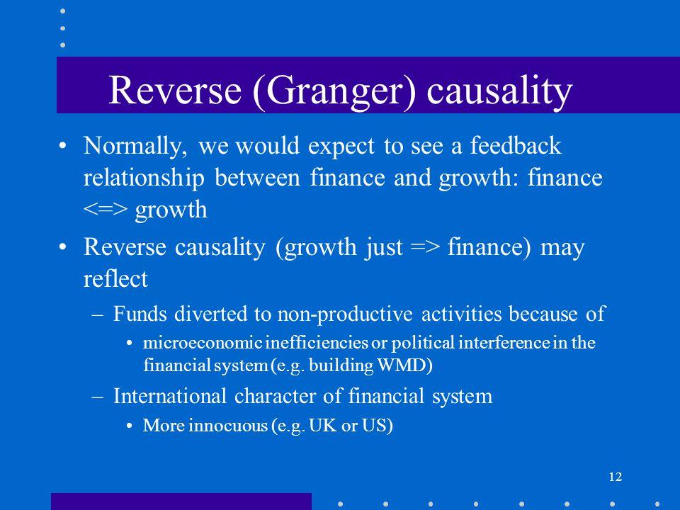 Reverse (Granger) causality