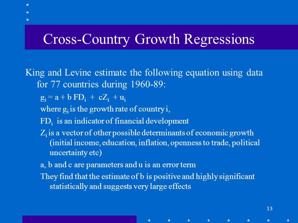 Cross-Country Growth Regressions