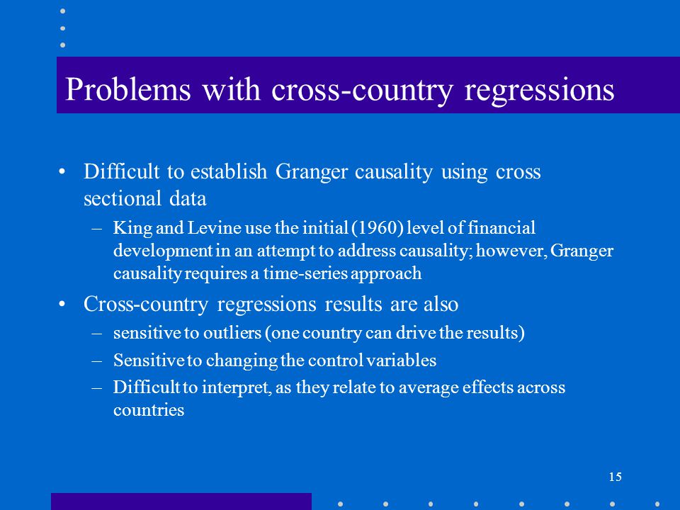 Problems with cross-country regressions