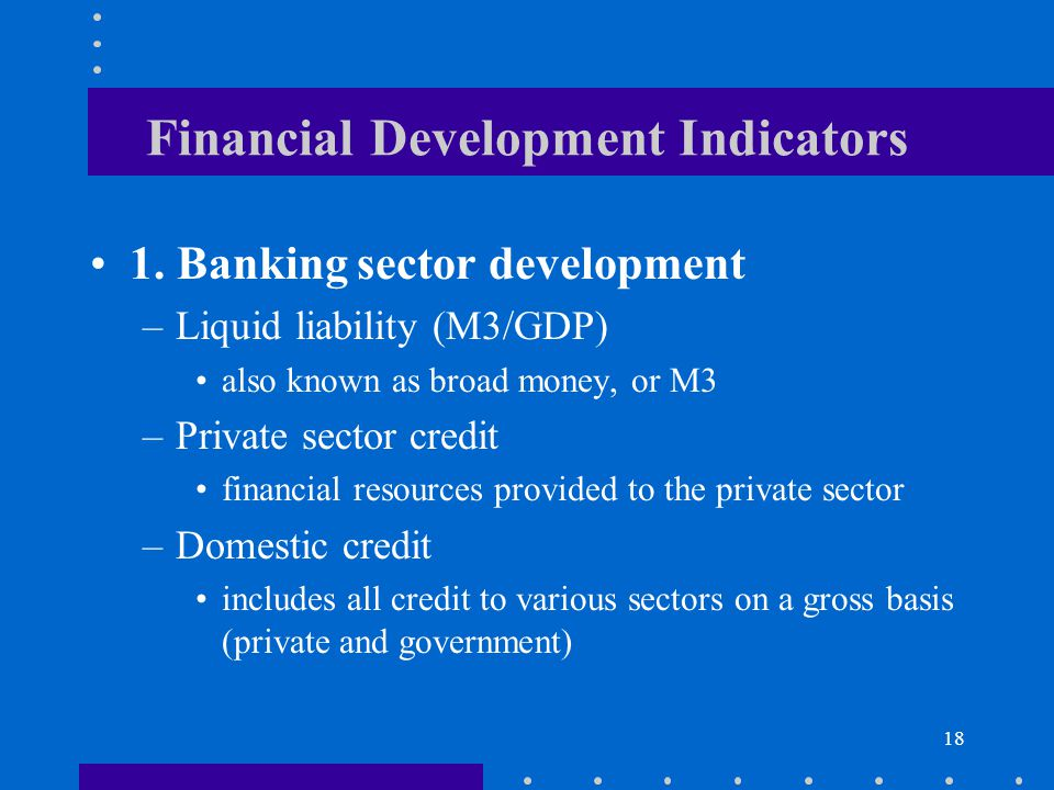 Financial Development Indicators