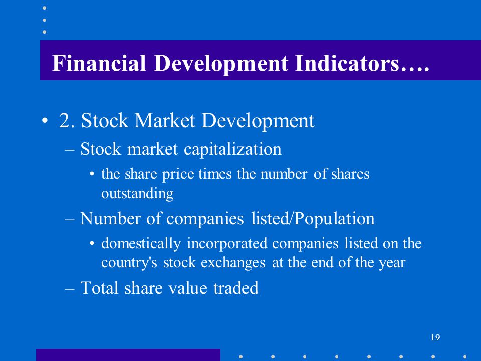 Financial Development Indicators….