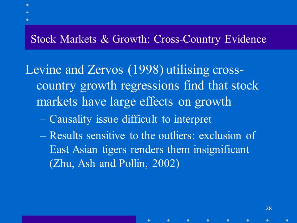 Stock Markets & Growth: Cross-Country Evidence