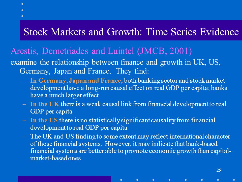 Stock Markets and Growth: Time Series Evidence