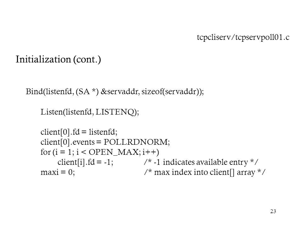 Initialization (cont.)