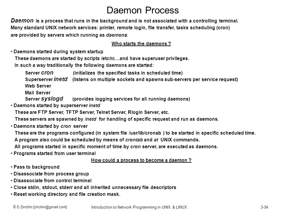 How could a process to become a daemon