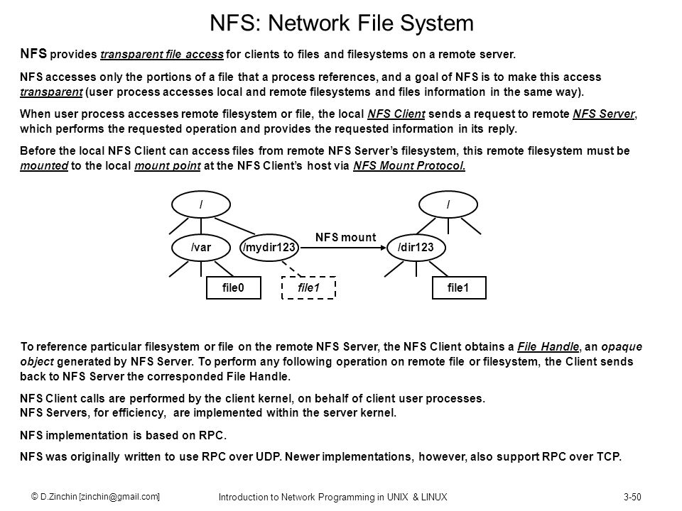NFS: Network File System