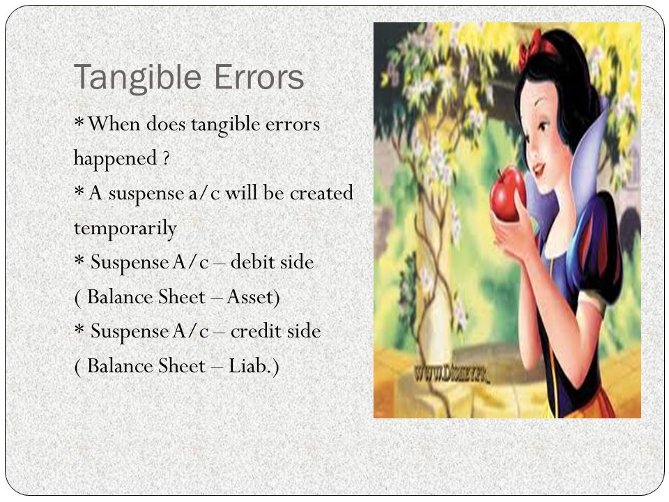 Tangible Errors