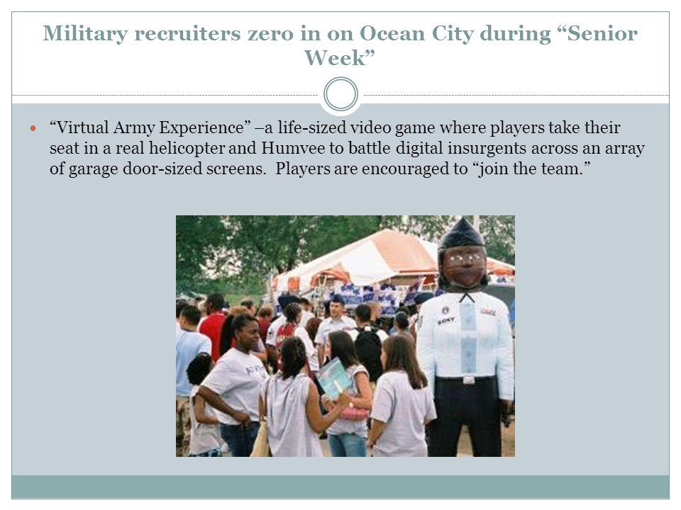 Military recruiters zero in on Ocean City during Senior Week
