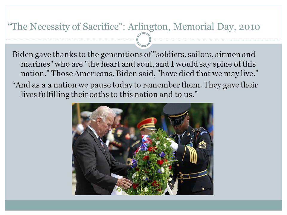 The Necessity of Sacrifice : Arlington, Memorial Day, 2010