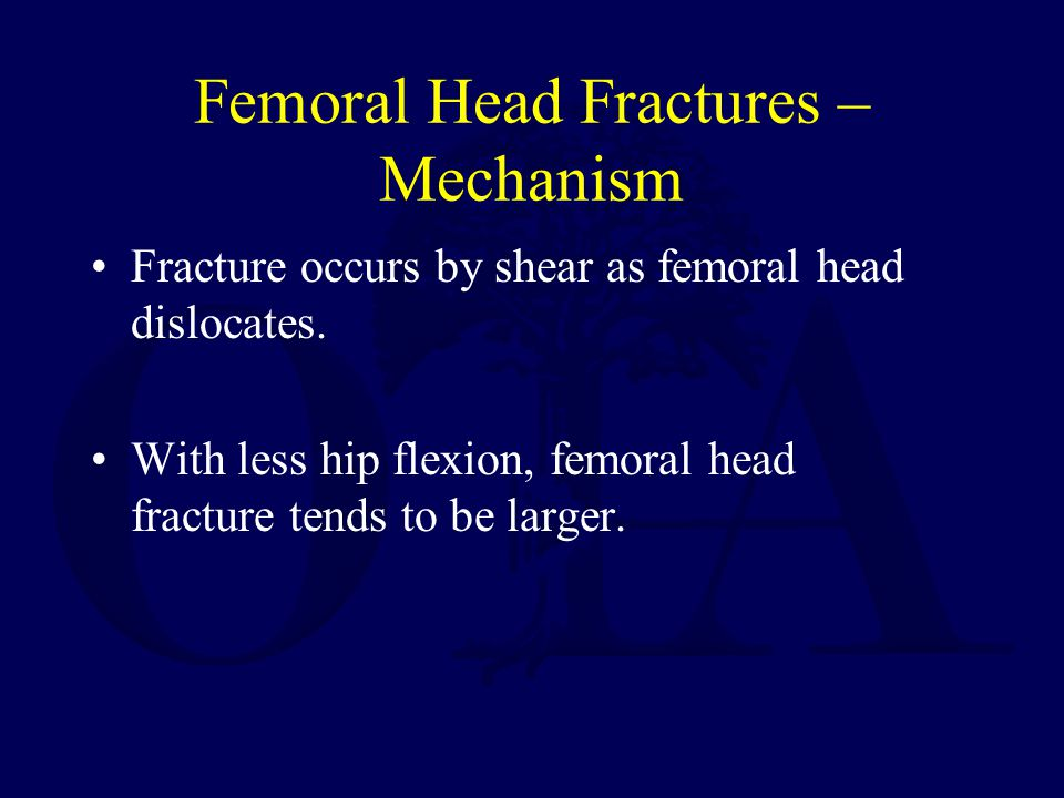 Femoral Head Fractures – Mechanism