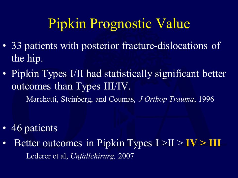 Pipkin Prognostic Value