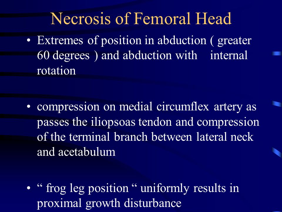 Necrosis of Femoral Head